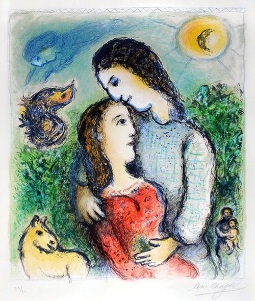 Masterworks Fine Art. Marc Chagall - Les Adolescents