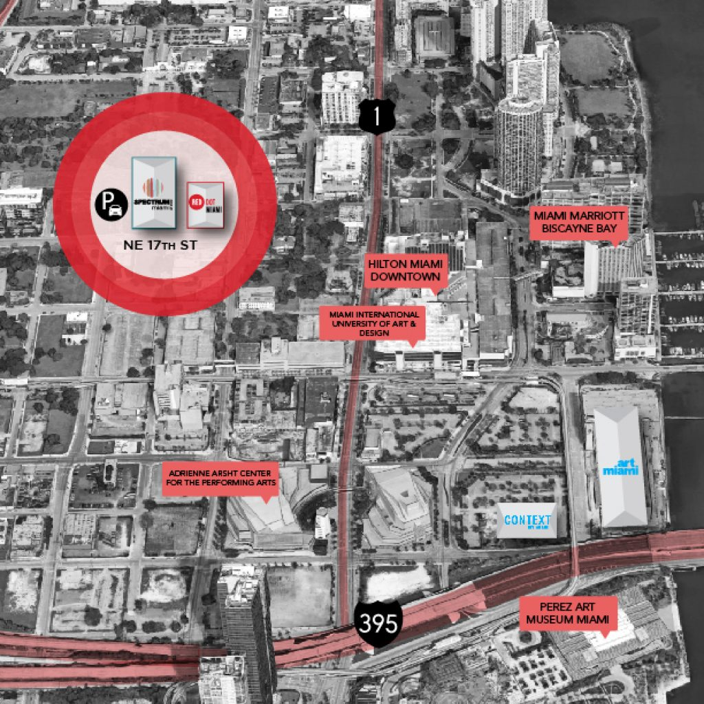 Red Dot Miami - Location Map