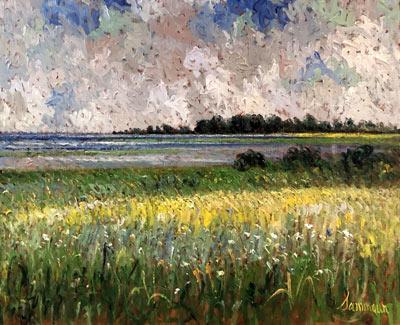 Mustard Field on the Seashore | Samir Sammoun
